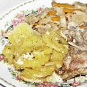 Tepsis nyúlcomb krumpliágyon