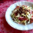 Duplán diós saláta