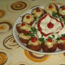 Fas�rt muffin form�ban s�tve, f�rjtoj�ssal, reszel