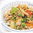 Zöldséges csirke curry