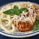 Bolognai csirkeszelet spagetti tésztával