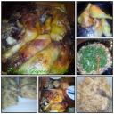Töltelékkel, gombával sült  csirke