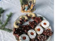 Karácsonyi linzer tál, gluténmentesen